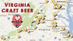 Click here for a map of Virginia craft breweries. #vacraftbeer #craftbeer #vabeermonth