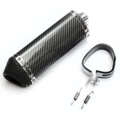 38mm Motorcycle Exhaust Muffler With Movable Silencer Carbon Fiber Color Metal