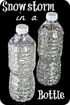 Tutorial for a snowstorm in a bottle. Very easy! - Tutorial for a snowstorm in a bottle. Very easy! Tutorial for a snowstorm in a bottle. Very easy! Winter Crafts For Kids, Winter Fun, Winter Theme, Preschool Winter, Snow Preschool Crafts, Winter Activities For Toddlers, Snow Activities, Weather Activities, Sensory Activities