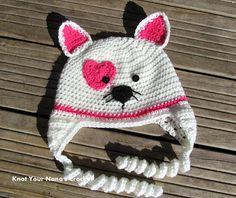 365 Crochet!: Valentines Kitty Hat -free crochet pattern-