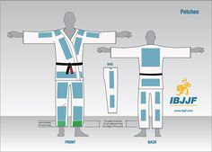 Uniform - GI Patches. IBJJF regulation sites for patches. Stick to this guide. They are extremely strict.