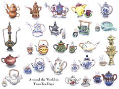 Those who know me know that I am always a sucker for tea pots and anything tea....Chantal's whimsy and her creativity comes from a time in the world that I could easily fall back into as well...wonderful!