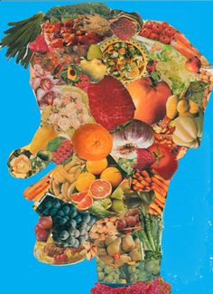 I did this lesson with drawing in the past, but I love the collage aspect for an easier approach Special Needs Art, Giuseppe Arcimboldo, 7th Grade Art, Montessori Art, Jr Art, Ecole Art, Middle School Art, Art Lessons Elementary, Spring Art