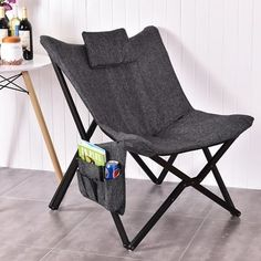 Shop for Costway Folding Butterfly Chair Seat Solid Black Wooden Frame Home Office Furniture. Get free shipping at Overstock.com - Your Online Furniture Outlet Store! Get 5% in rewards with Club O! - 22766940