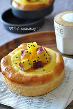 「ジンジャーカスタードのおさつパン」nonnon | お菓子・パンのレシピや作り方【corecle*コレクル】