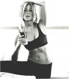 """""""I'm a pilates person. It's great. I had a chronic back, a pinched nerve and a hip problem and it's completely solved all of it. I love it. It makes me feel like i'm taller.""""    Jennifer Anniston"""