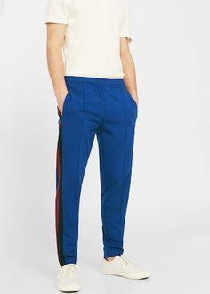 Cotton jogging trousers -  Men   MANGO Man USA