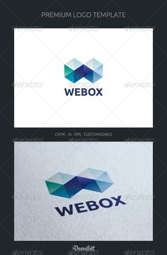Buy Abstract Letter W Logo Template by domibit on GraphicRiver. Webox is a multipurpose logo. Can be used as letter W, and application software companies, studios and design agenci. Business Logo Design, Business Brochure, Corporate Design, Unique Logo, Cool Logo, Logo Branding, Branding Design, Letter W, Letter Logo