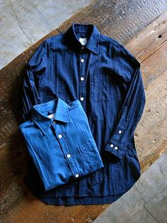 brand:TS(S) item:Indigo Cotton Long Shirts