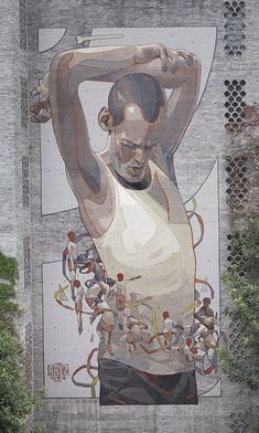 "New Street Art ""Axis"" by aryz_ found in Chongqing China #art #mural #streetart…"