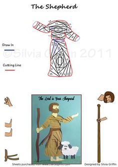 The Shephert on Craftsuprint designed by Silvia Griffin - A Shepherd looking for the Jesus Child for a lovely Christmas Card. Could also be used to make a Sympathy card with the heading of : The lord is your Shepherd and nothing you shall want .... - Now available for download!