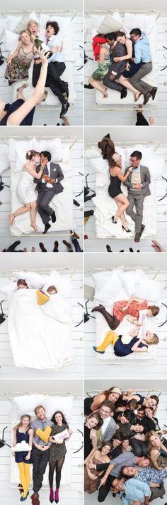 Photo Booth Hochzeit mit Bett