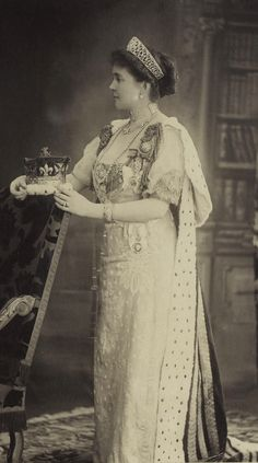 Princess Louise Margaret, Duchess of Connaught in court gown.