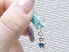 3D nails mermaid nail dangling summer nautical Japanese by Aya1gou, $19.00