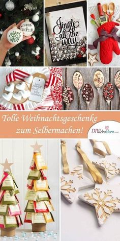 [ 25 geniale Bastelideen für DIY Geschenke zu Weihnachten Make DIY presents for Christmas. Whether a tree made of tea or a chocolate spoon, homemade gifts are very well received within the family. Christmas Eve can come! Diy Gifts For Christmas, Christmas Makes, Noel Christmas, Homemade Christmas, Christmas Decorations, Christmas Ornaments, Diy Cadeau Noel, Diy Tumblr, Navidad Diy