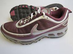 NIKE 315410 Air Max 360 Purple Silver Athletic Shoes 2007 Women's US Size 8.5 #Nike #RunningCrossTraining