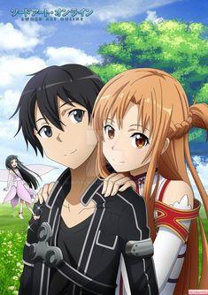 Art Anime, Anime Kunst, Chica Anime Manga, Anime Kawaii, Kirito Asuna, Sword Art Online Poster, Sword Art Online Wallpaper, Sword Art Online Kirito, Kunst Online