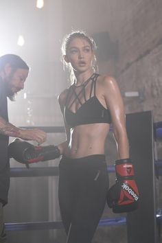 Gigi Hadid starred in a new advertising campaign for the sports brand Reebok.