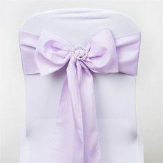 "5 PCS | 6"" x 108"" Lavender Polyester Chair Sash Wedding Chair Sashes, Wedding Chairs, Lavender Wedding Decorations, Floral Tablecloth, Theme Color, Different Light, Unicorn Party, Event Decor, Bows"
