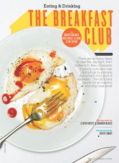 #Vancouver #Breakfast Food Magazine Layout, Magazine Design, Magazine Spreads, Magazine Covers, Publication Design, Article Design, The Breakfast Club, Magazine Articles, Morning Food