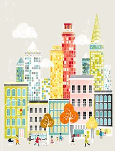 New York America American cityscape Art Print A3 / by lauraamiss