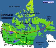 Map of Arctic Circle :)
