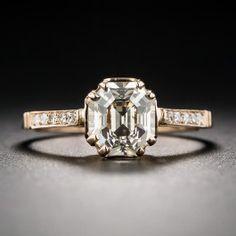 1.82 Carat Light Brown Asscher-Cut Diamond Ring - Diamond Engagement Rings - Engagement