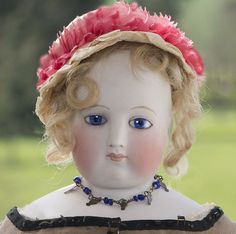 """17 1/2"""" (46 cm) French Fashion Blampoix doll with wooden body in her original dress!"""