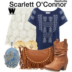 Inspired by Clare Bowen as Scarlett O'Connor on Nashville