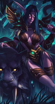 Now I didn't play for a while, but these pieces of art are cool. #wow #worldofwarcraft #world #of #warcraft #legion #worgen #wallpaper #background #iphone #phone #elf