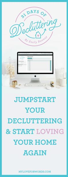 Trying to declutter and get organized can feel overwhelming. You may look around your whole house and not know where to start. Sometimes all you need is a plan and a little guidance, and that's exactly what the 31 Days of Decluttering challenge provides. It's the perfect way to jumpstart your decluttering and start loving your home again.