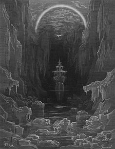 Not really Golden Age, but still an awesome image. I think the author has a point when he suggests this was the inspiration for that amazing shot in the third Pirates movie of the junk sailing through the ice canyon. Still one of my favorite visual/audio scenes, ever.