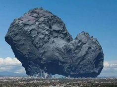 Never thought a comet strike was a scary idea? Here's the Rosetta Comet when compared to major city like L.A.