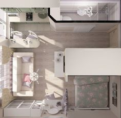 ideas apartment living room layout floor plans interior design for 2019 Small Apartment Plans, Studio Apartment Floor Plans, Studio Apartment Design, Small Apartment Design, Studio Apartment Decorating, Apartment Interior Design, Small House Design, Small Apartments, Apartment Living
