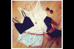 Spring/ Summer 2013 Outfits for Women by Stylish Eve Summer Fashion Outfits, Cute Summer Outfits, Spring Summer Fashion, Cute Outfits, Summer Clothes, Style Summer, Casual Summer, Beach Clothes, Fashion Shorts