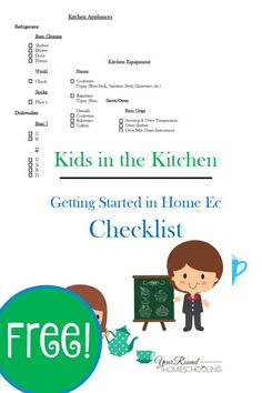 Kids in the Kitchen: Getting Started with Home Ec - Year Round Homeschooling