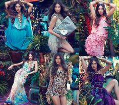 Blugirl by Blumarine Spring 2012 Ad Campaign. Model: Jessica Miller. From Nymag.com