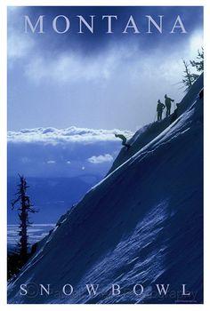 Missoula Montana - Snowbowl ski resort - an amazing spot to ski with extreme slopes!