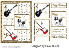 - This can be used as toppers or layered with sticky foam pads. Suitable for anyone who likes pop music. 3d Pattern, Patterns, Quick Cards, Card Maker, Printable Paper, Pop Music, Squares, Decoupage, Printables