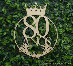 O logo personalizado para a festa de 80 anos da Maria de Fátima foi desenhado pela querida designer  - mandala.arquitetura