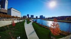 While the Scioto Mile is technically a part of The Scioto Greenway Trail this picturesque path deserves to be talked about. Only a couple minutes walk from the heart of downtown Columbus the Scioto Mile stretches from the Arena District to the Whittier Peninsula perfect for a run! : @coreyspring
