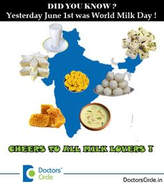 June 1st is World Milk Day! Ever imagined how much you would miss out without Milk?#Nutrition4growth #foodie #health pic.twitter.com/vhCcL24nPE
