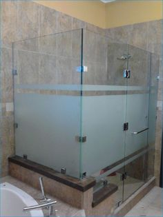 Bathroom photo frosted modern glass shower sliding door - Puertas de bano corredizas ...