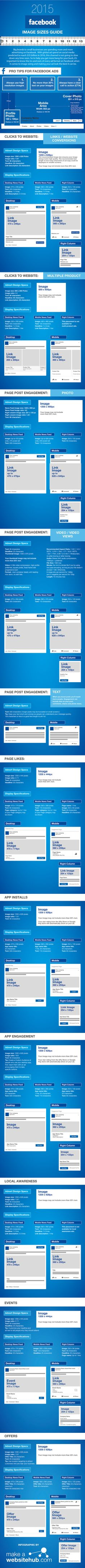 The Ultimate 2015 Facebook Image Sizes Guide #infographic #socialmedia #smm #in