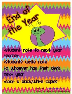 End of year ideas! Love these!