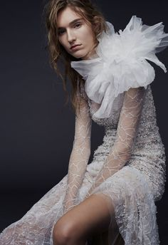 If you're looking for a wedding dress that's both feminine and edgy, browse the bridal gowns in the Fall 2015 collection by Vera Wang. Designed to be sexy, sen… Wedding Dresses For Sale, Designer Wedding Dresses, Wedding Gowns, Bride Gowns, Wedding Bride, Vera Wang Bridal, Vera Wang Wedding, Bridal Looks, Bridal Style