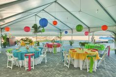 NEW! Our Coconut Palm Pavilion is perfect for hosting your reception right on the beach with an unobstructed view of the Gulf of Mexico. St. Pete Beach, FL - Caroline & Evan Photography
