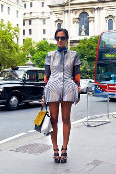 Konca Aykan London Fashion Week Street Style - Spring 2013 Street Style - Elle