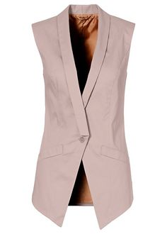 Jumpsuits For Women 60 Fashion, Office Fashion, Fashion Outfits, Best Leather Jackets, Long Vests, Look Chic, Work Attire, Jumpsuits For Women, Coats For Women