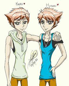 Hitachiin Twins, Ouran Host Club. Old fanart draw by Luisa.F